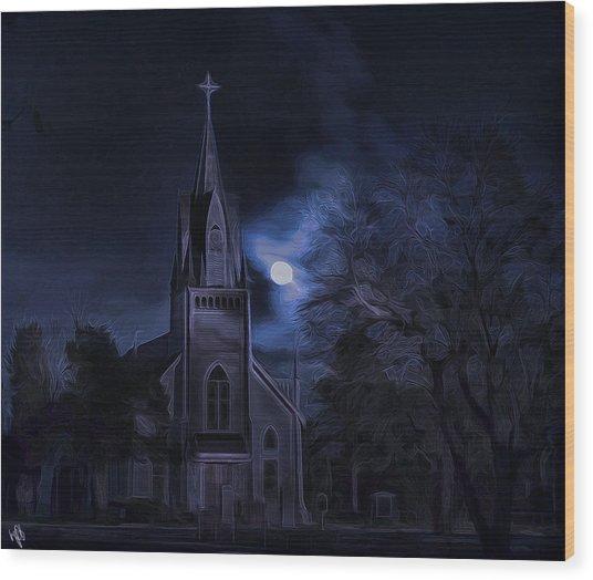 Moonlight Wood Print by Hazel Billingsley