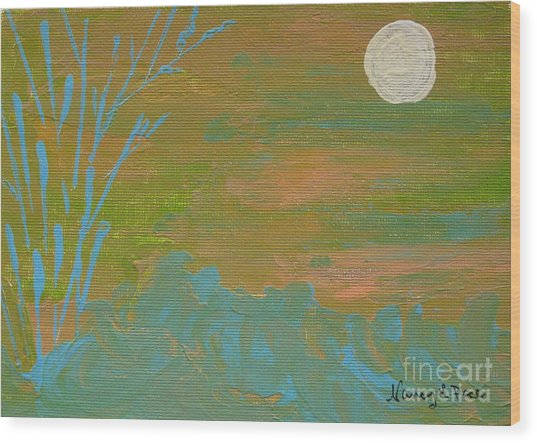 Moonlight In The Wild Wood Print