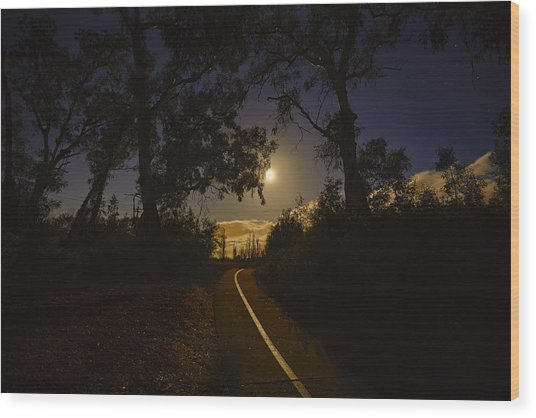 Moonlight Wood Print