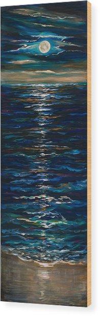 Moonlight Reflection Wood Print