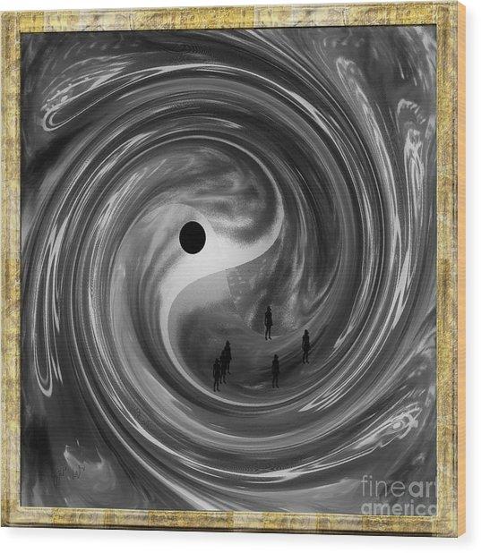 Moonlight Walkers Wood Print