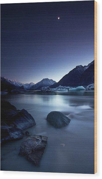 Moonlight Wood Print by Yan Zhang