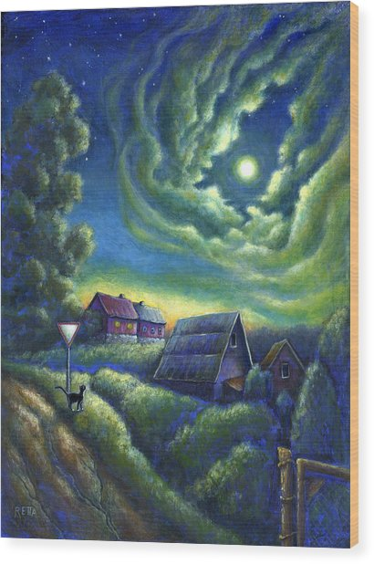 Moonlit Dreams Come True Wood Print