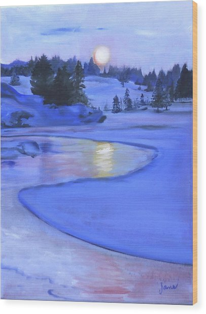 Moonlit Wood Print