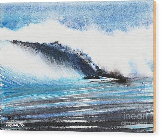 Moonlit Ocean Wood Print