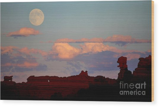 Moonrise Over Goblins Wood Print