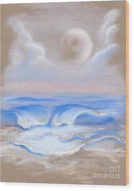 Moonrise Over Myrtle Beach Wood Print