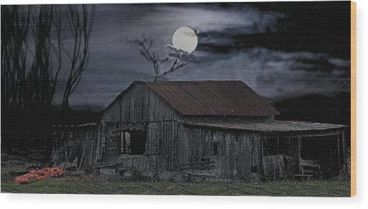 Moonshine Nights Wood Print