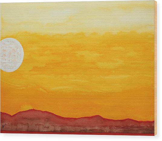 Moonshine Original Painting Sold Wood Print