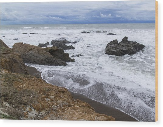 Moonstone Beach Surf 3 Wood Print