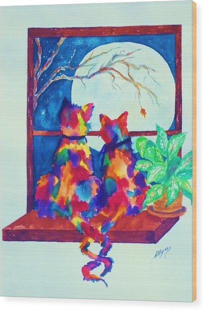 Moonstruck Ll Wood Print