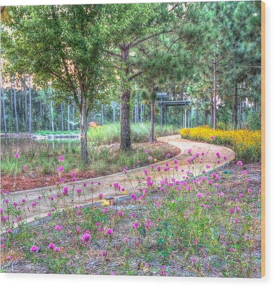 Moore Garden Stroll Wood Print