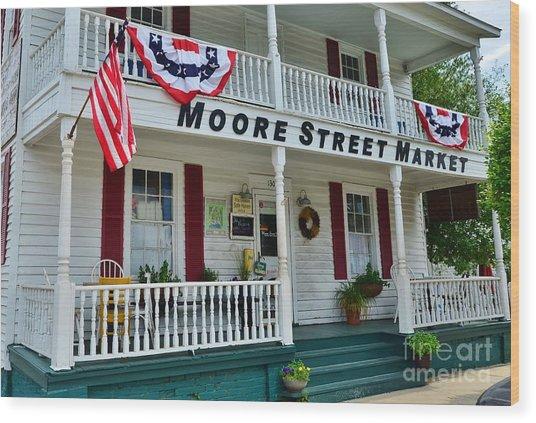 Moore Street Market Wood Print