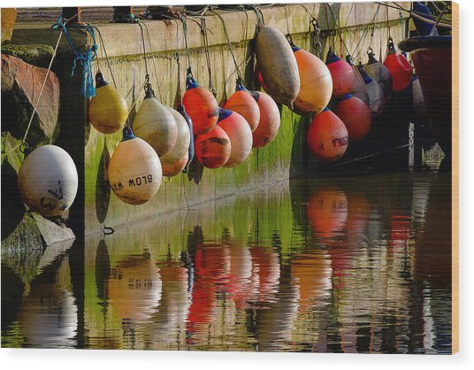 Mooring Buoys Wood Print