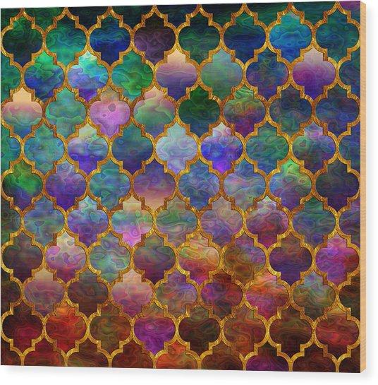 Moorish Mosaic Wood Print
