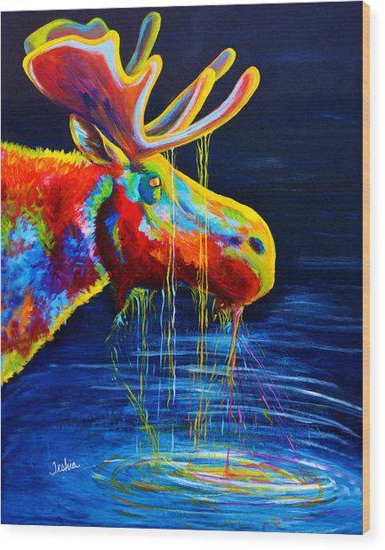 Moose Drool Wood Print