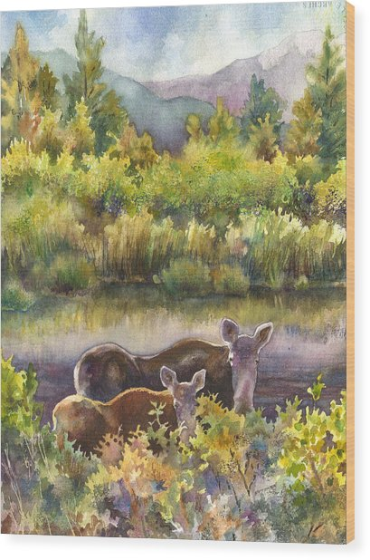 Moose Magic Wood Print
