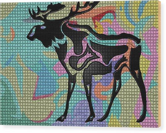 Moose Tracks Wood Print
