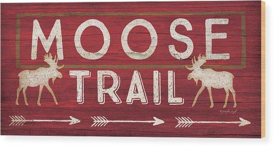 Moose Trail Wood Print