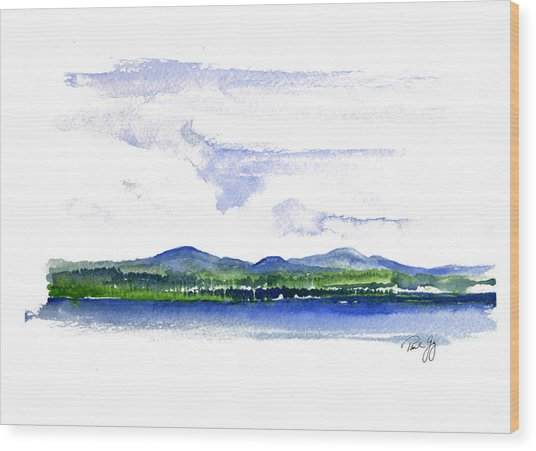 Moosehead Lake Wood Print