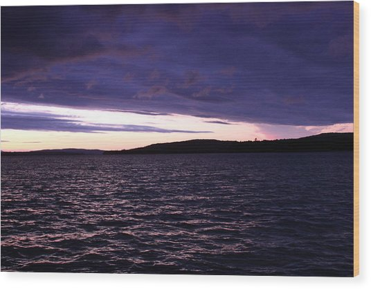Moosehead Lake Sunset Wood Print by Ryan Hord