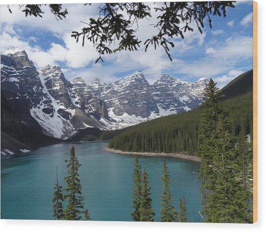 Moraine Lake Alberta Canada Wood Print