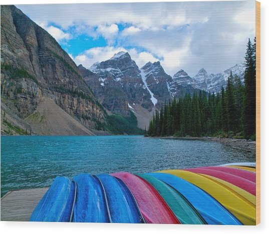 Moraine Lake Calling Wood Print