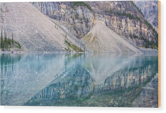 Moraine Lake Panorama A Wood Print