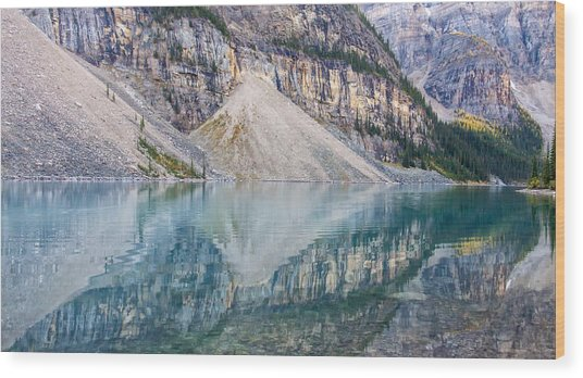 Moraine Lake Panorama B Wood Print