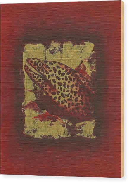 Moray Eel Wood Print