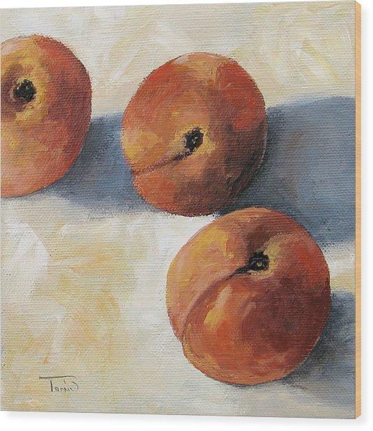 More Georgia Peaches Wood Print