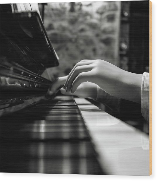 More Music Please Wood Print by Marco Antonio Cobo
