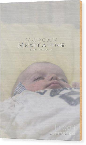 Wood Print featuring the photograph Morgan Meditating 2 by Vicki Ferrari