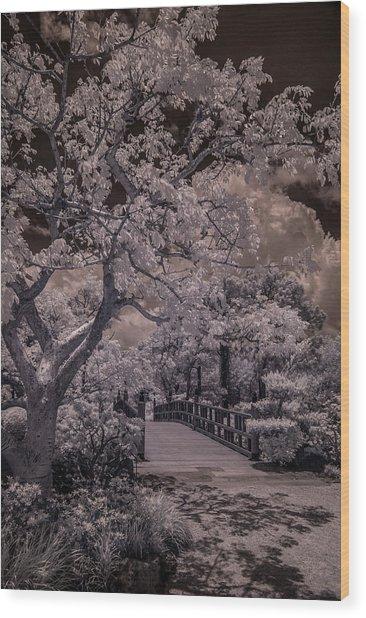 Morikami Gardens - Bridge Wood Print