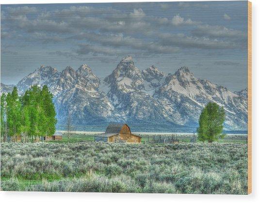 Mormon Barn Spring Wood Print