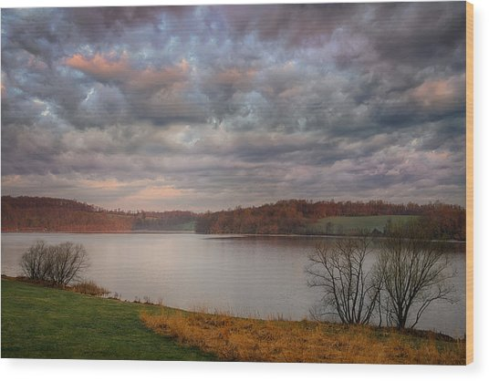 Morning At Marsh Creek State Park Wood Print