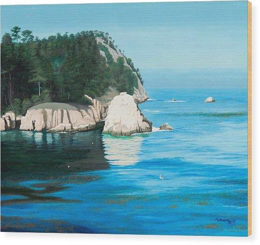 Morning At Point Lobos #2 Wood Print