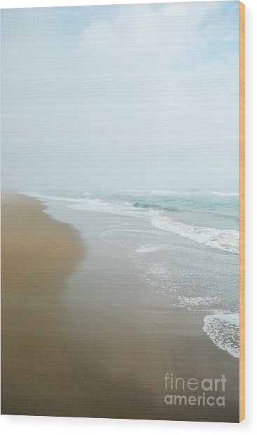 Morning At Sea Wood Print by Sharon Kalstek-Coty