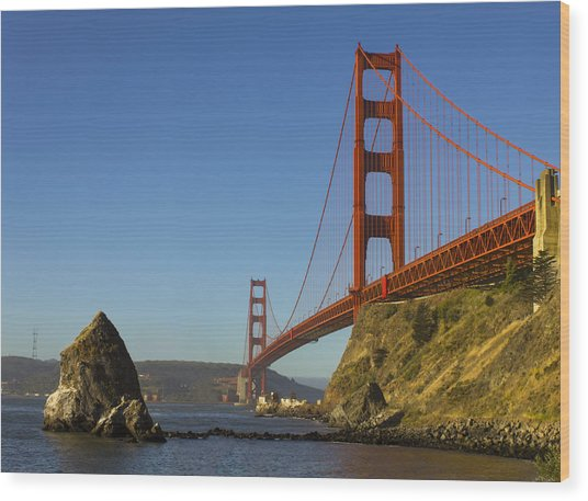 Morning At The Golden Gate Wood Print