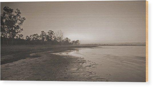 Morning At The Lake Wood Print by Gordon  Grimwade