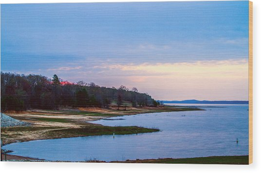 Morning At The Lake - Landscape Wood Print by Barry Jones
