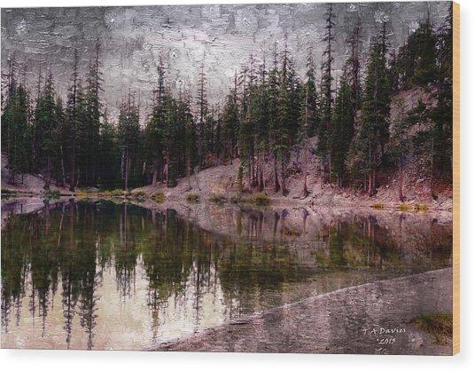 Morning At The Lake Wood Print