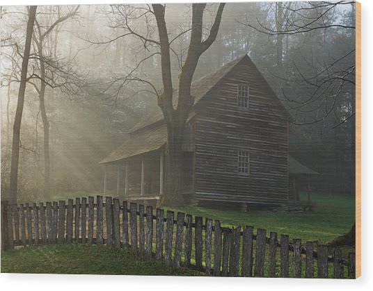 Morning At The Tipton Place Wood Print by Deb Campbell