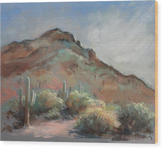 Morning At Usery Mountain Park Wood Print