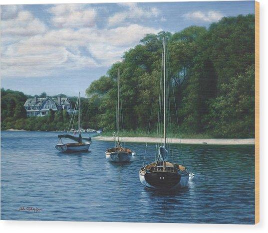 Morning Blue - Cape Cod Wood Print by Julia O'Malley-Keyes