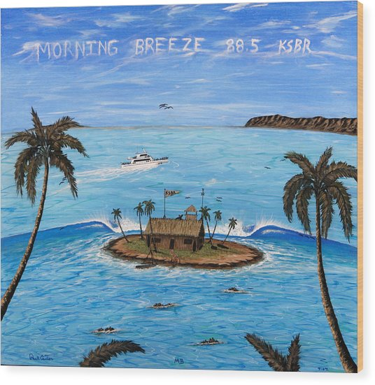Morning Breeze Cruise Wood Print