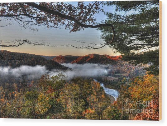 Morning Cheat River Valley Wood Print