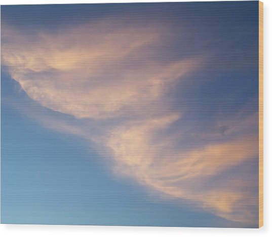 Morning Clouds Wood Print