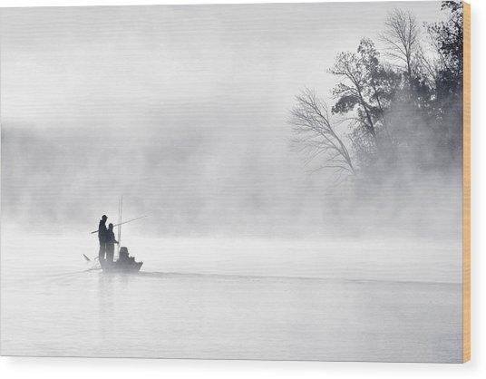 Morning Fishing 5 Wood Print