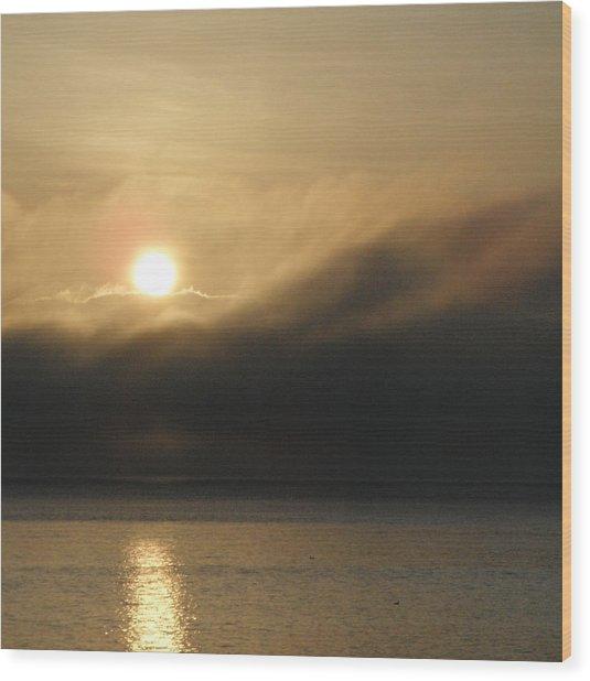 Morning Fog Wood Print by A Cyaltsa Finkbonner